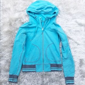 Lululemon Turquoise Hoodie with Gray Details